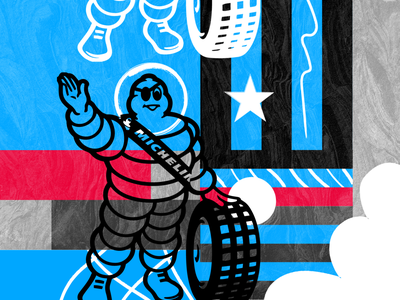 Michelin Rated R grid pattern pop