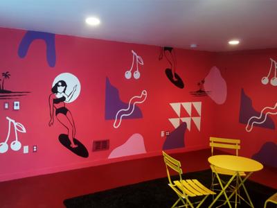 Surfer mural