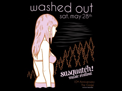 Washed Out posters bands washed out sasquatch poster music