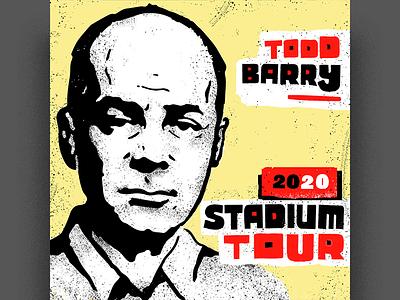 Todd Barry tour poster portrait design illustration tour poster comedy sub pop todd barry