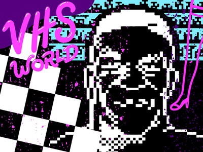 VHS world 80s mike tyson 8 bit vhs