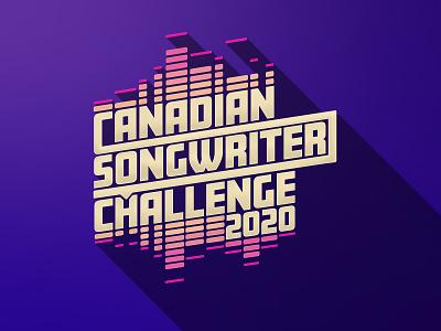 Canadian Songwriter Challenge logo purple design song music branding identity lockup illustrator