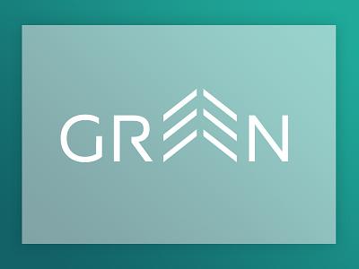 Green icon typography branding design logotype wordmark tree green illustrator logo