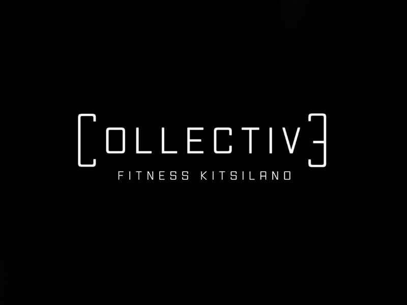 Collective Fitness Kitsilano clean resume simple minimal wordmark illustrator branding fitness logo bc canada kitsilano workout fitness