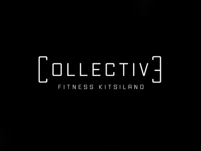 Collective Fitness Kitsilano clean resume simple minimal wordmark illustrator branding fitness logo bc canada kitsilano workout fitness