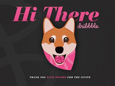 Hello Dribbble Doge shiba illustration debut doge dog