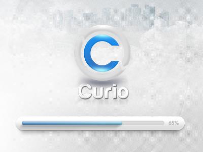 Curio graphic design curio game interface blue logo ui loading bar