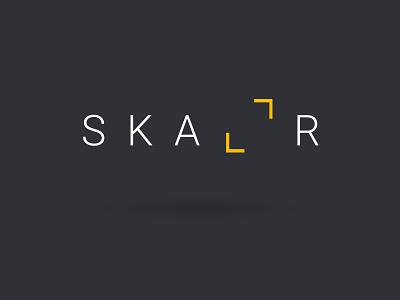 Skallr branding graphic design minimal logo