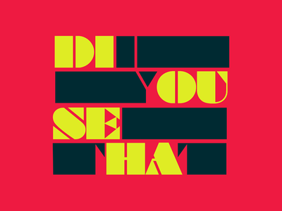 """Did You See That?!"" Logo Concept pop culture show fandom pop culture branding brand identity"