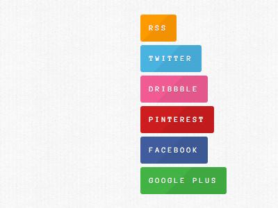 Social links in sidebar sidebar widget button social social media links pinterest google plus facebook rss twitter dribbble navigation