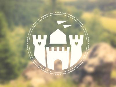 Wedding Monogram wedding monogram castle logo illustration towers stamp seal emblem
