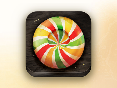Candy - App Icon app icon ios iphone ipad touch candy icons application wood sweets texture perspective campino realistic