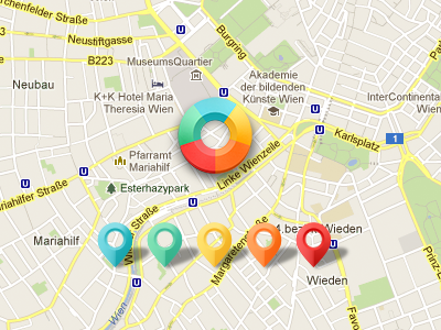 Map - Location Indicator & Pushpins