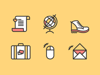 Travel Manifesto Icons