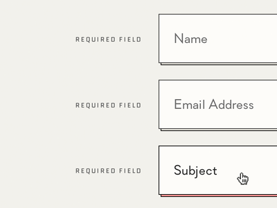 UI Contact Form minimal flat ui interface contact form input textfield hover focus
