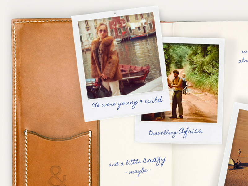 Collage - How it all began collage leather polaroid handwritten ampersand retro travel africa filofax photography webdesign responsive art direction
