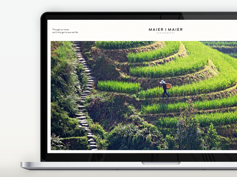 Maier & Maier Photography Portfolio responsive webdesign minimal clean flat portfolio travel photography interface ui interface design