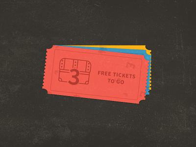 Tickets PSD Freebie free freebie psd vintage simple flat illustration illustrator photoshop adobe photoshop ticket