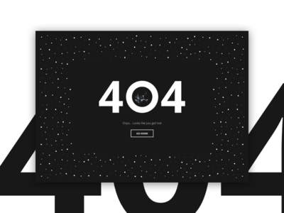 React.js 404 Page stars dark not found web page ui space man spaceman space lost 404 error