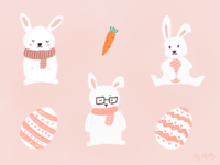 今日份的萌兔子