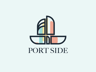 Boat Logo   Daily Logo Challenge sail modern logo logo design design logo nautical port side boats boating port boat logo boat daily logo challenge