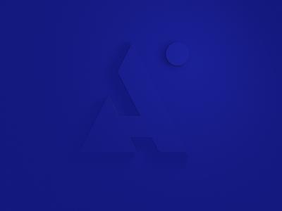 Aspirity 3D logo on the plane top view branding logo 3d