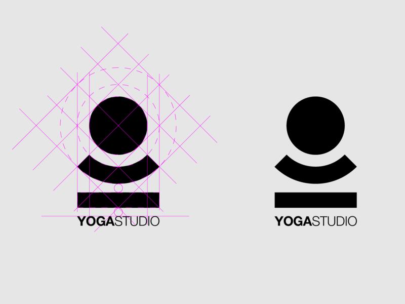 Doing yoga branding idea geometric thicklines logo design vector icon minimal