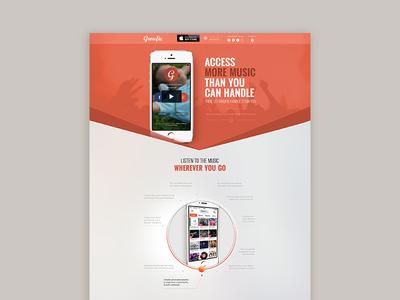 Interactive landing page design