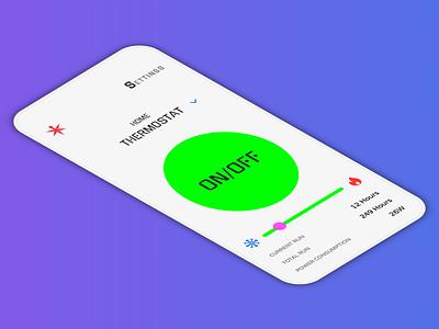 Home Monitoring Dashboard App gradient app daiyui home app home dailyui ui