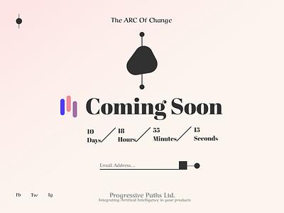 Coming Soon dailyui048 minimal page design gradient coming soon dailyui ui