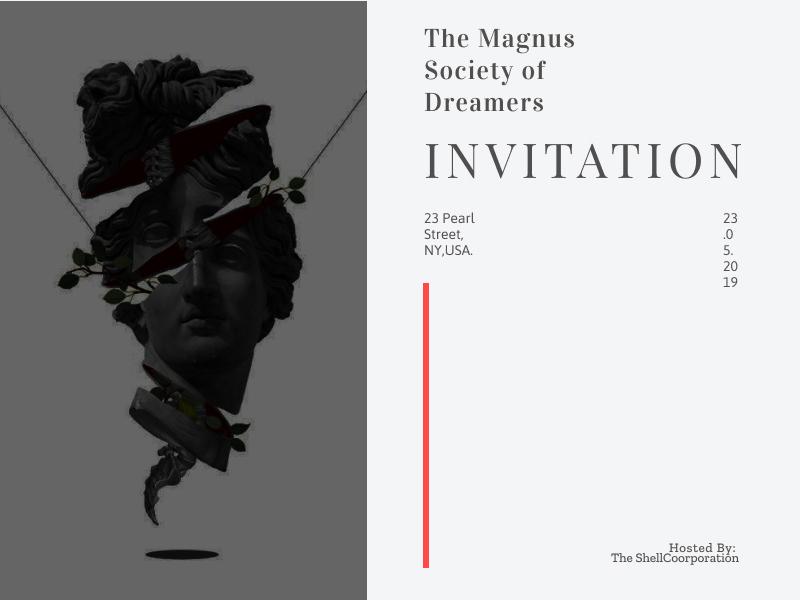 Invitation Card minimal card design invitation ui