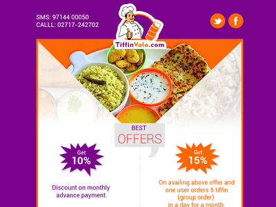 Promotional Newsletter newsletter food services restaurant clean offers discount