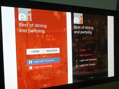 Login - Restaurant Review login restaurant dining partying review apps ios7 flat menus