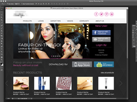 Layout for Fashion Portal