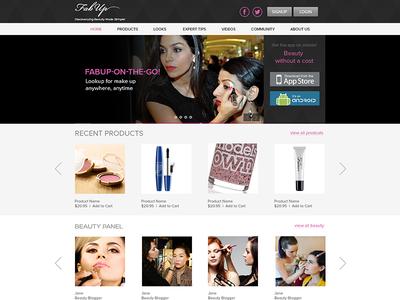 Layout Fashion Portal ui web fashion social minimal ux beauty gallery makeup lookup website