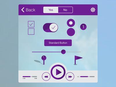 Build Custom UI ui flat ios7 minimal user interface controls iphone icon button navigation video social