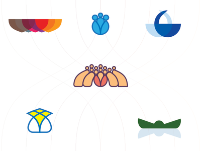 Logo Fun vector shape branding brand symbol illustration icon logo