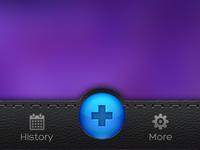 Tab bar UI iPhone app