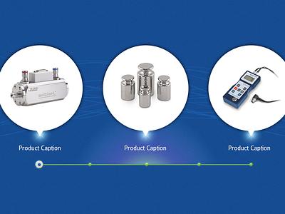 Product Showcase slider product slide industrial web blue ui navigation layout website clean showcase