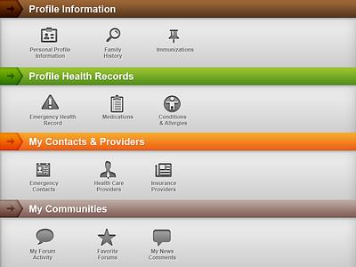 Dashboard dashboard web ui health profile cms medical gray simple nav