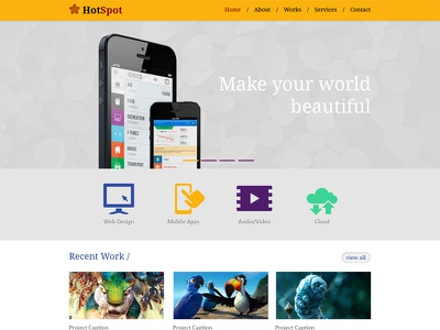 Free Psd Template template psd portfolio clean layout website design download simple
