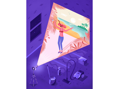 """How to stop compulsive lying"" illustration for Sante magazine people vector texture graphic design magazine psychology woman isometric illustration"