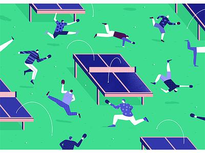 Illo character pepple sport isometric texture inspiration pingpong illustration