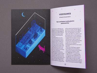 Luna Park myauzine isometric illustration cat lunapark magazine