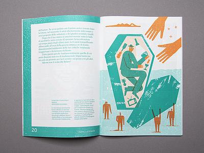 Illustration for Pelo magazine zin print photo pelomagazine pelo news magic magazine illustration fake coffin