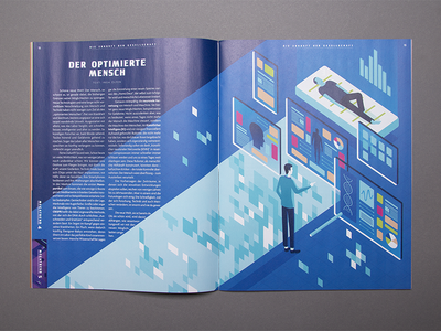 Illustration for Autostadt magazine future print design graphic magazine isometric illustration