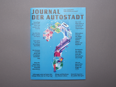Cover for Autostadt magazine design graphic future print magazine isometric illustration