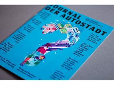 Cover for Autostadt magazine vr auto autostadt print design graphic magazine isometric illustration