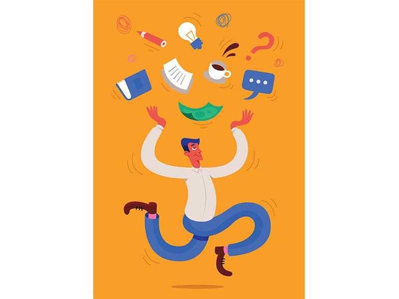 Illustration for Newsweek Psychologia characterdesign character design graphic magazine psychology illustration