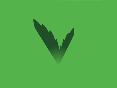Leafy V Venture Capital venture capital vc investment agriculture ag green v leaf rejected badge logo unused